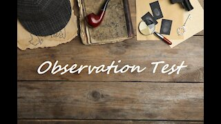 Observation Test - Are You The Next Sherlock Holmes?