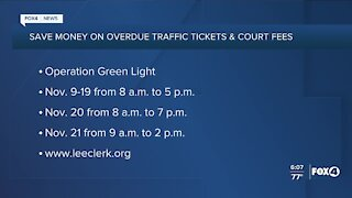 Operation green light to help with traffic tickets