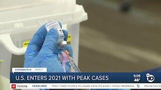 US reaches peak coronavirus numbers in 2021