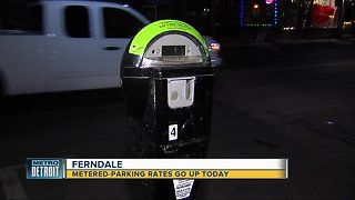 Metered parking rates in Ferndale double