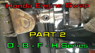 Removing a Engine from a Civic Wagon Part 2