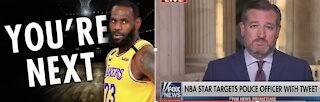Lebron James Sends Threatening Tweet to Police Officer - Ted Cruz Responds With a NUKE