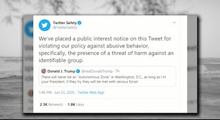Twitter suppressed another tweet sent from President Donald Trump