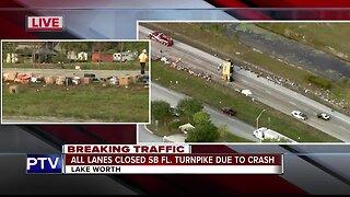 Truck full of Venezuela donations crashes on the Turnpike