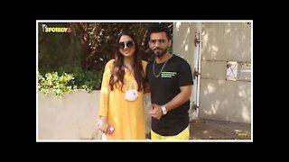 Rahul Vaidya Snapped With GF Disha Parmar At Grand Hyatt