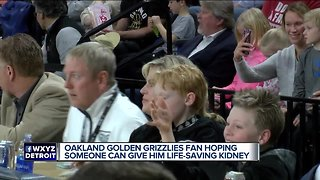 Oakland fan hoping to find kidney donor, raise awareness
