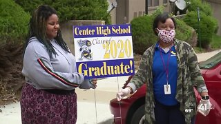 #WeSeeYouKSHB: Center High School honors each senior with visit, sign