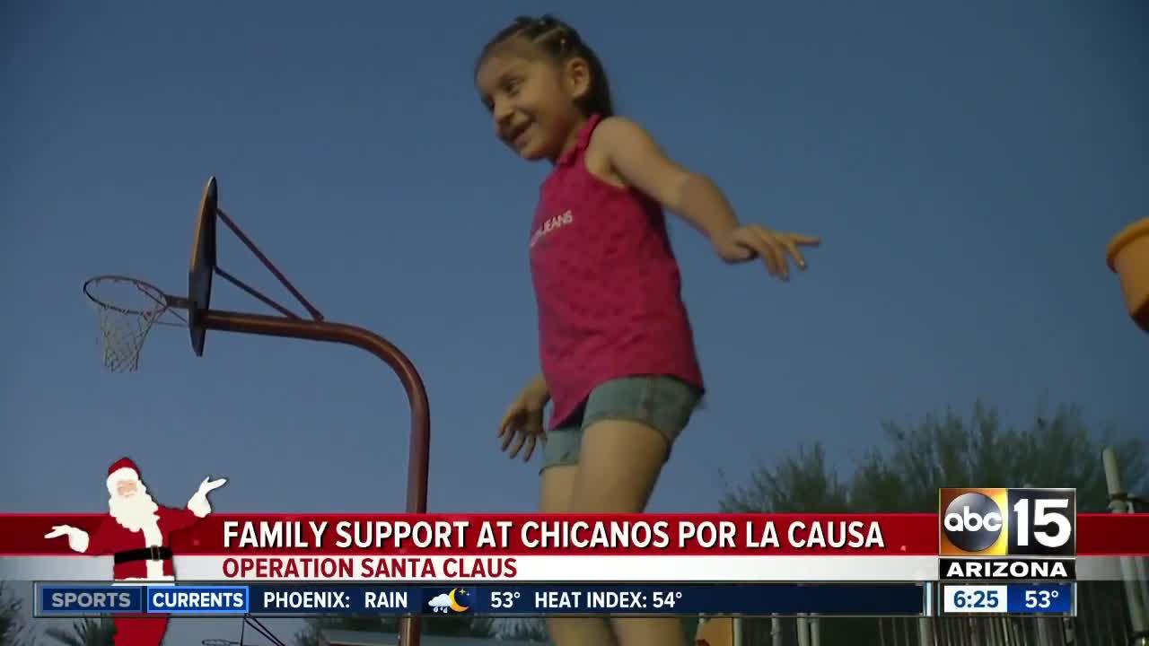 Operation Santa Claus: Family support of Chicanos por la Causa