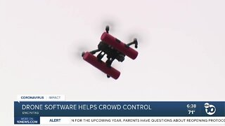 Drone software helps COVID crowd control