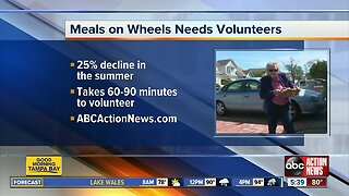 Meals On Wheels in need of volunteers in Pinellas Co. to deliver meals to homebound seniors