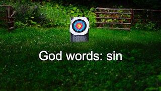 God words: sin