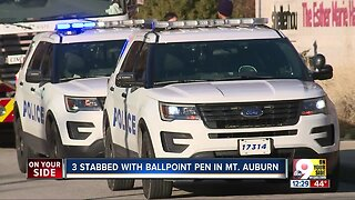 Suspect stabbed three people with ballpoint pen