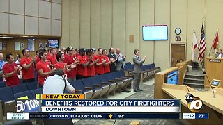 San Diego Firefighters rally for benefits