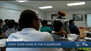 Fight Over Guns In The Classroom