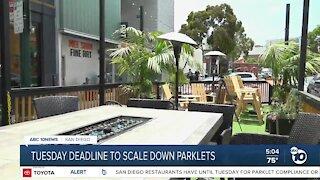San Diego restaurants face Tuesday deadline to downsize parklets