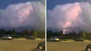Crazy slow motion footage of Florida lightning strike