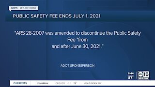 Public safety fee ends on July 1