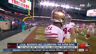 Locals not watching Super Bowl