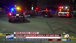 Pedestrian killed in downtown San Diego hit-and-run