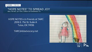 Hope Notes to spread joy for people with developmental disabilities