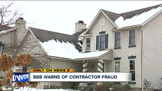 Better Business Bureau warns of roof contractor taking thousands, not doing the work