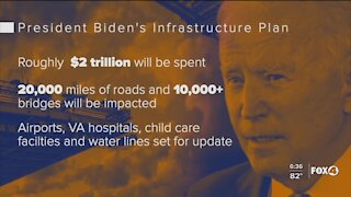 Biden lays out $2 trillion plan to improve nation's infrastructure