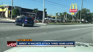 Arrest in machete attack three years later