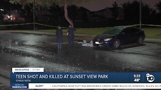 Police search for shooter in killing of teen at park