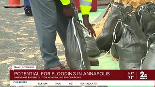 Potential for flooding in Annapolis