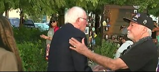 Bernie Sanders visiting Healing Garden