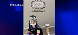 VGK quarantine baby goes viral, encourages people to stay home