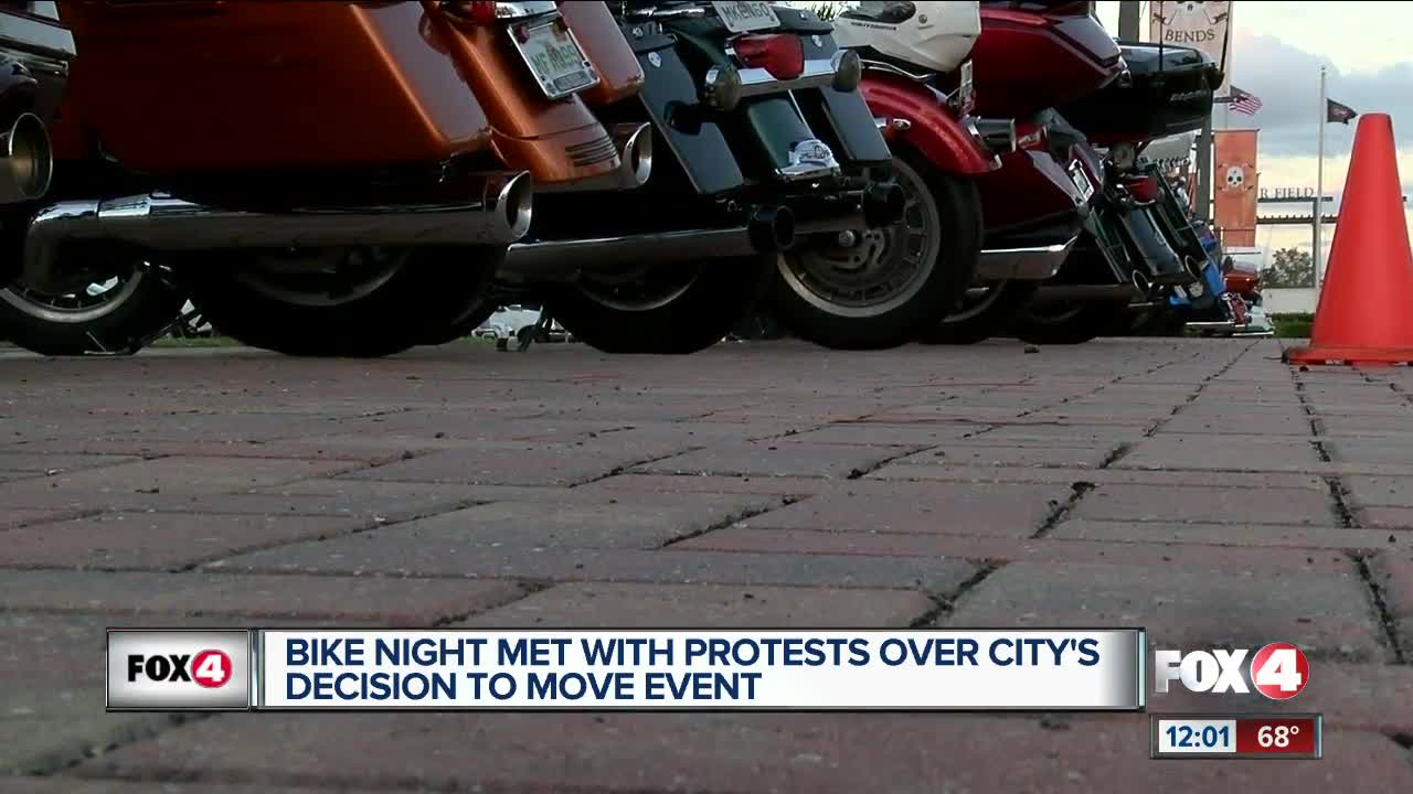 Bike Night location change fires up protesters
