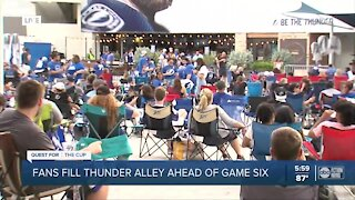 Fans fill Thunder Alley ahead of Game 6 of Stanley Cup Final