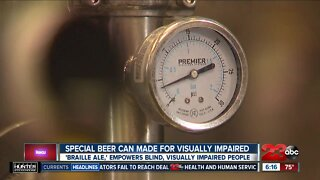 Special beer can made for visually impaired