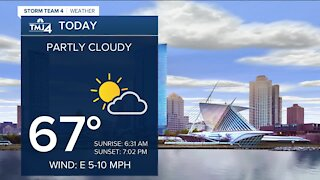 Comfortable temperatures in store Monday