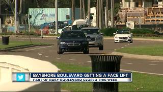 Crews begin 2-month-long construction project along Bayshore Boulevard