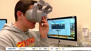 Tampa Prep students using virtual reality for anatomy lessons, architecture and creating video games