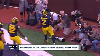 Michigan QB Shea Patterson talks with WXYZ's Brad Galli about signing with Chiefs