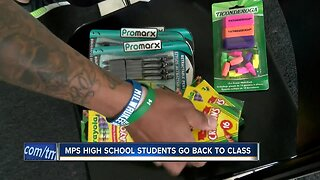 MPS high school students return to class