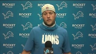 Matthew Stafford explains why he was on a knee during anthem