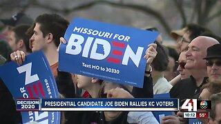 Presidential candidate Joe Biden rallies KC voters