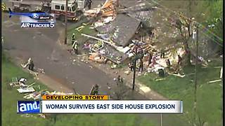 House decimated after explosion on Cleveland's east side