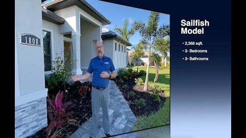 ALL NEW Sailfish Model SW Cape Coral, Florida Custom Home Construction