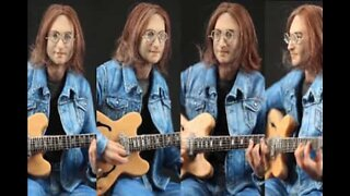 Fantastisk miniskulptur av John Lennon