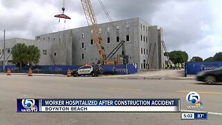 Worker hospitalized after construction accident in Boynton Beach