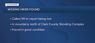 Las Vegas police locate missing hiker