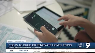 Costs rising for home building and renovations
