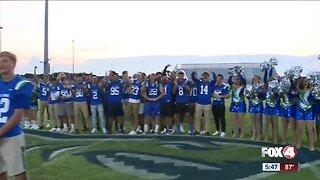 Bonita Springs kicks-off their first varsity football game