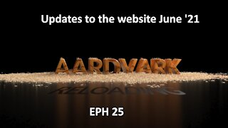 Updates to AardvarkReloading.Com 06-03-2021