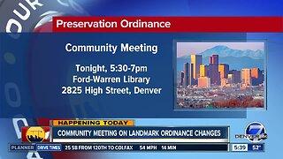 Community meeting on landmark ordinace changes